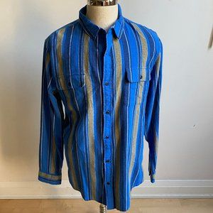 The RAIL BNWT blue stripe shirt long sleeve pocket